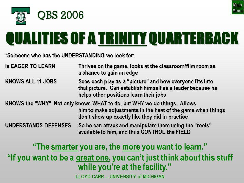 46-56 BRONCO Thought Process QBS 2006 SCENARIO #4 V V V C B V V V VV S 1.
