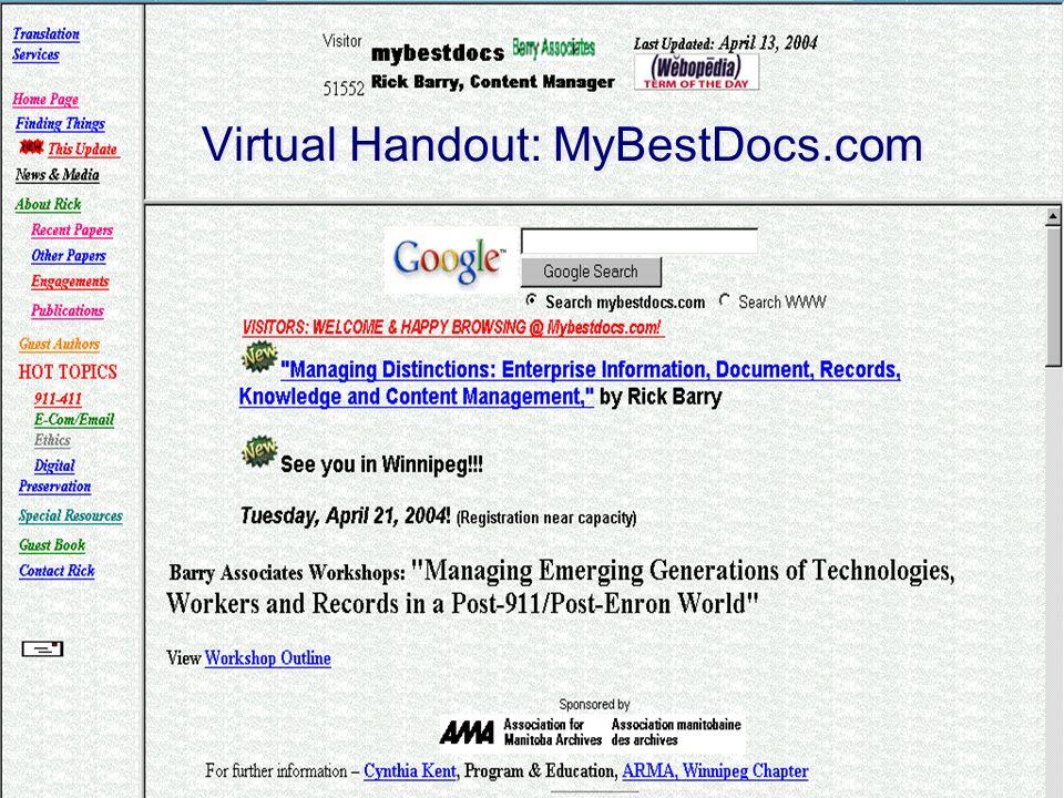 Virtual Handout: MyBestDocs.com