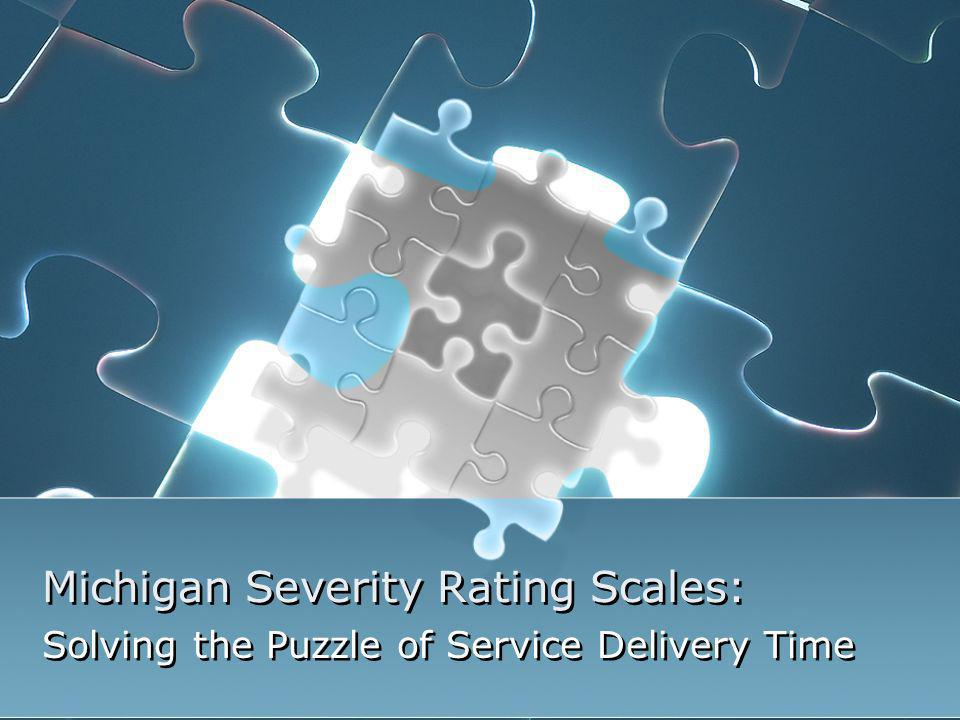 Michigan Severity Rating Scales: Solving the Puzzle of Service Delivery Time