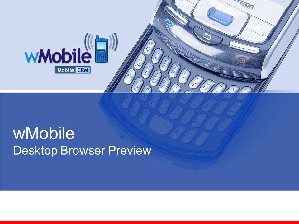 wMobile Desktop Browser Preview