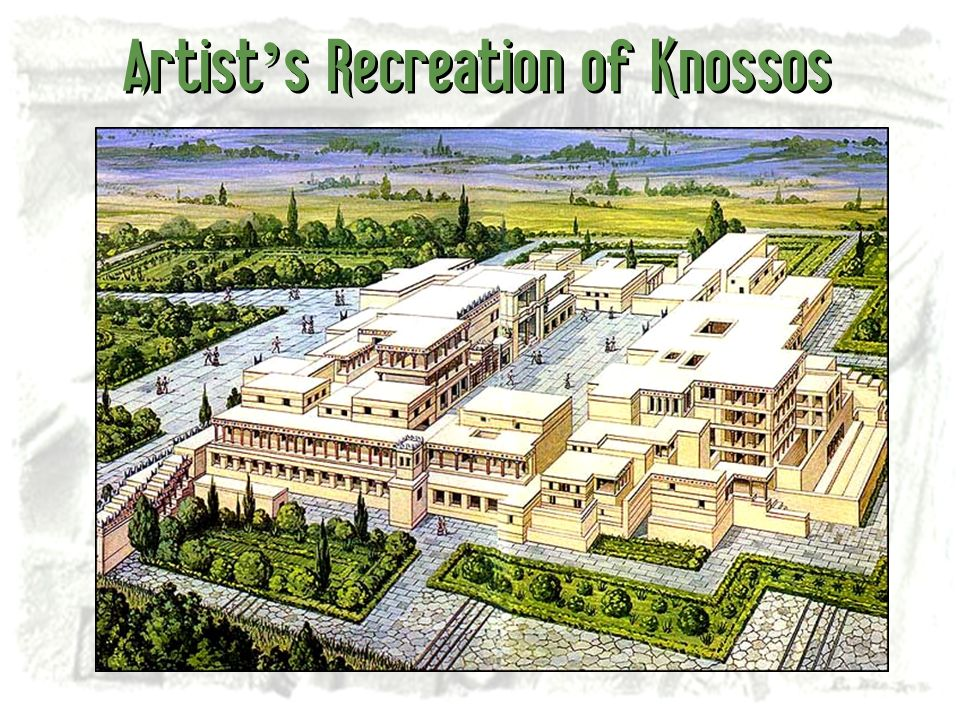 Artist s Recreation of Knossos