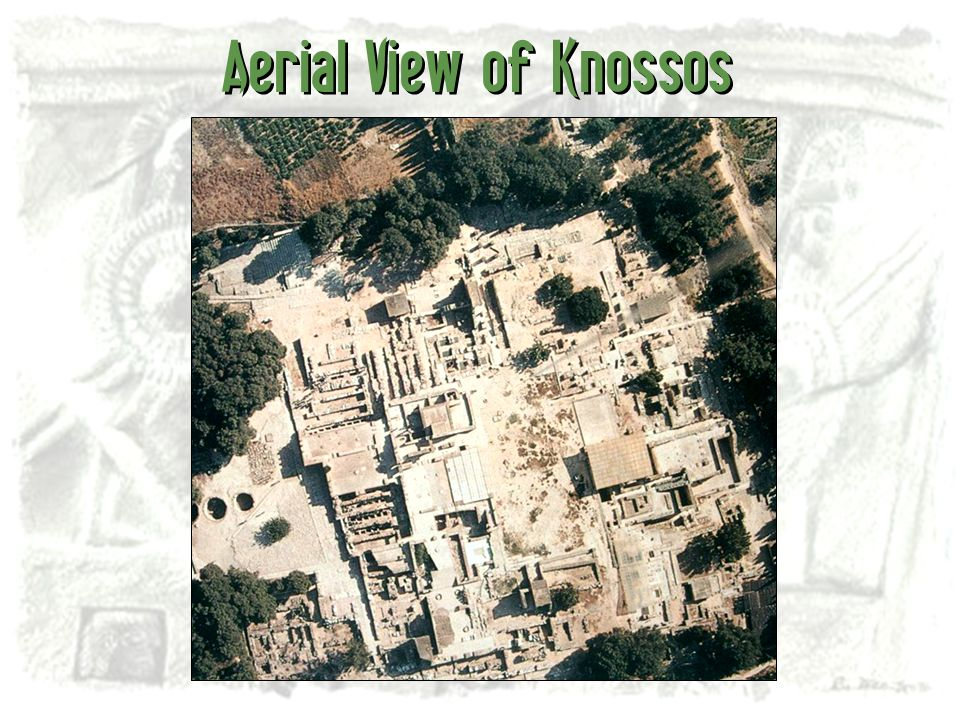 Aerial View of Knossos
