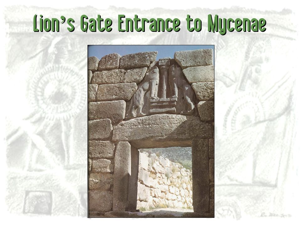 Lion s Gate Entrance to Mycenae