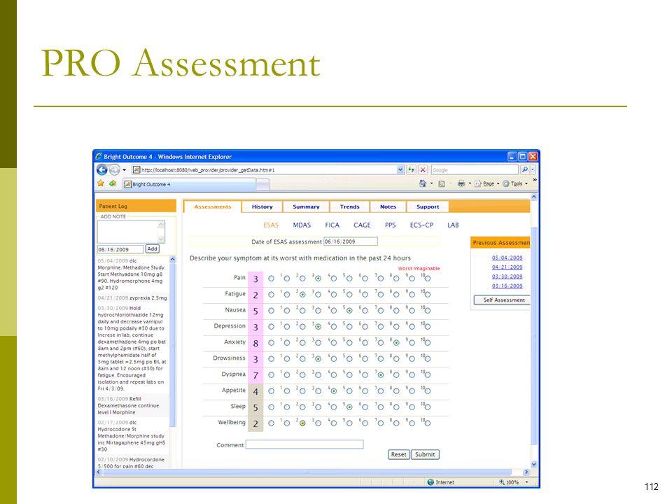 PRO Assessment 112