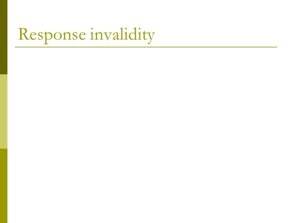 Response invalidity