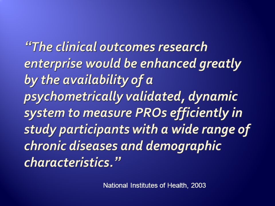 National Institutes of Health, 2003