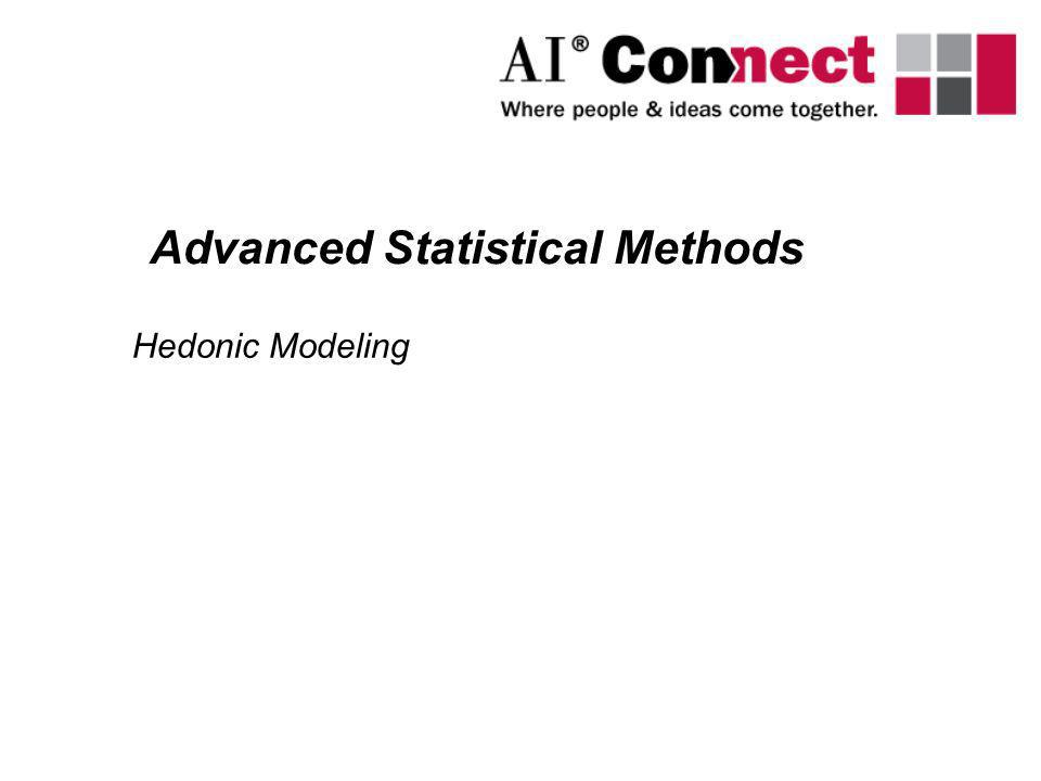 Hedonic Modeling Advanced Statistical Methods