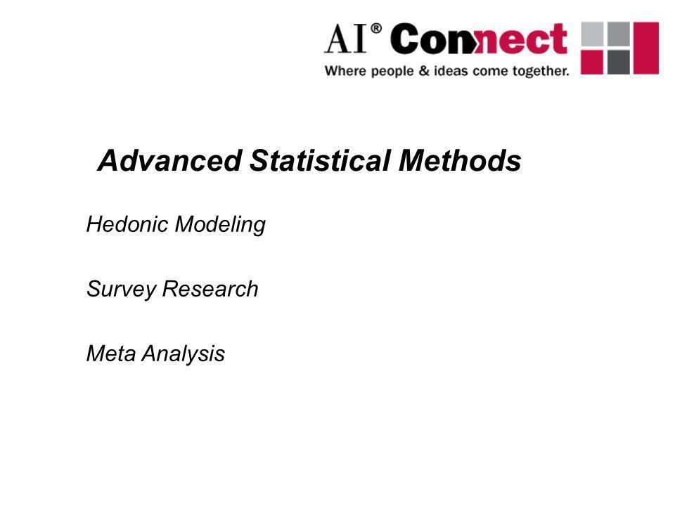Hedonic Modeling Survey Research Meta Analysis Advanced Statistical Methods