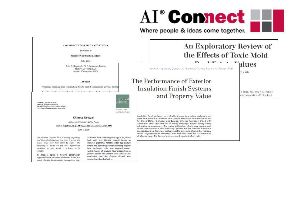 Simons & Saginor, J.Real Estate Research, 2006 Lipscomb, Mooney, & Kilpatrick, J.