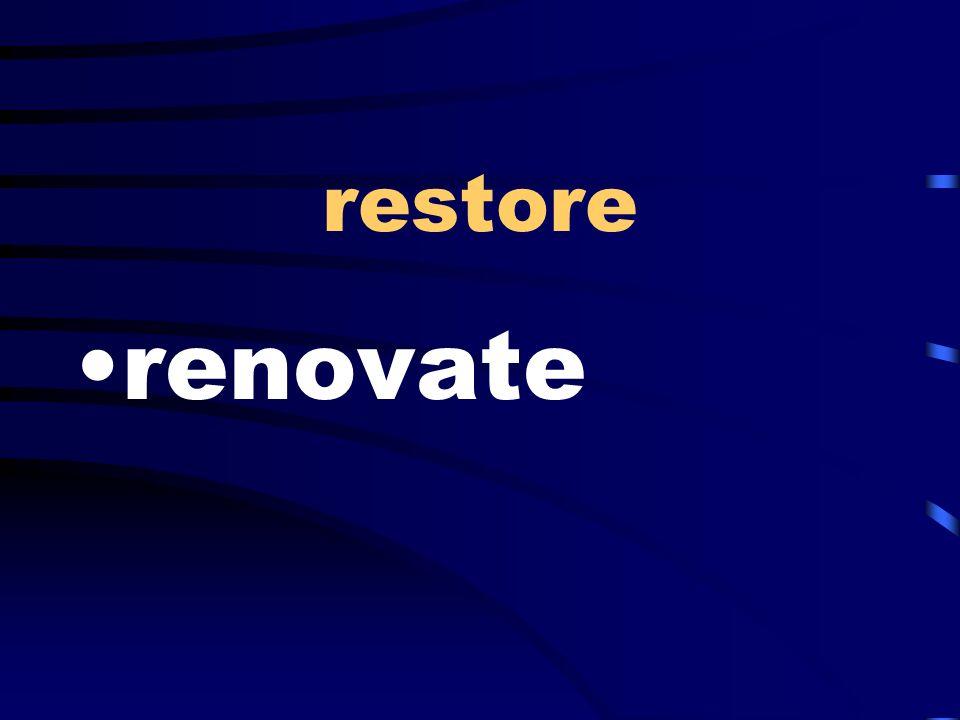 restore renovate