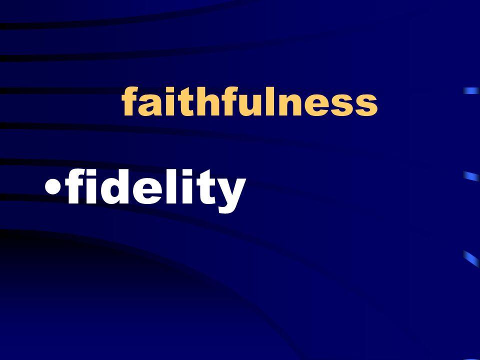 faithfulness fidelity