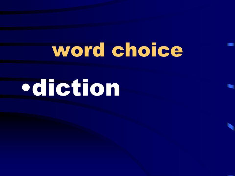 word choice diction