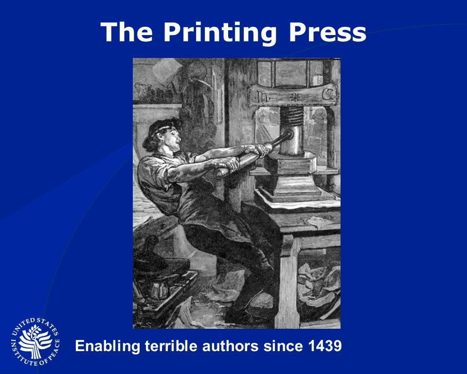The Printing Press Enabling terrible authors since 1439