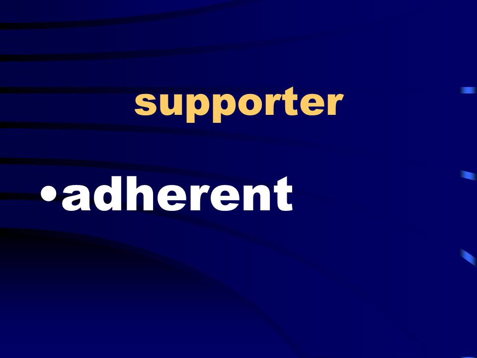 supporter adherent