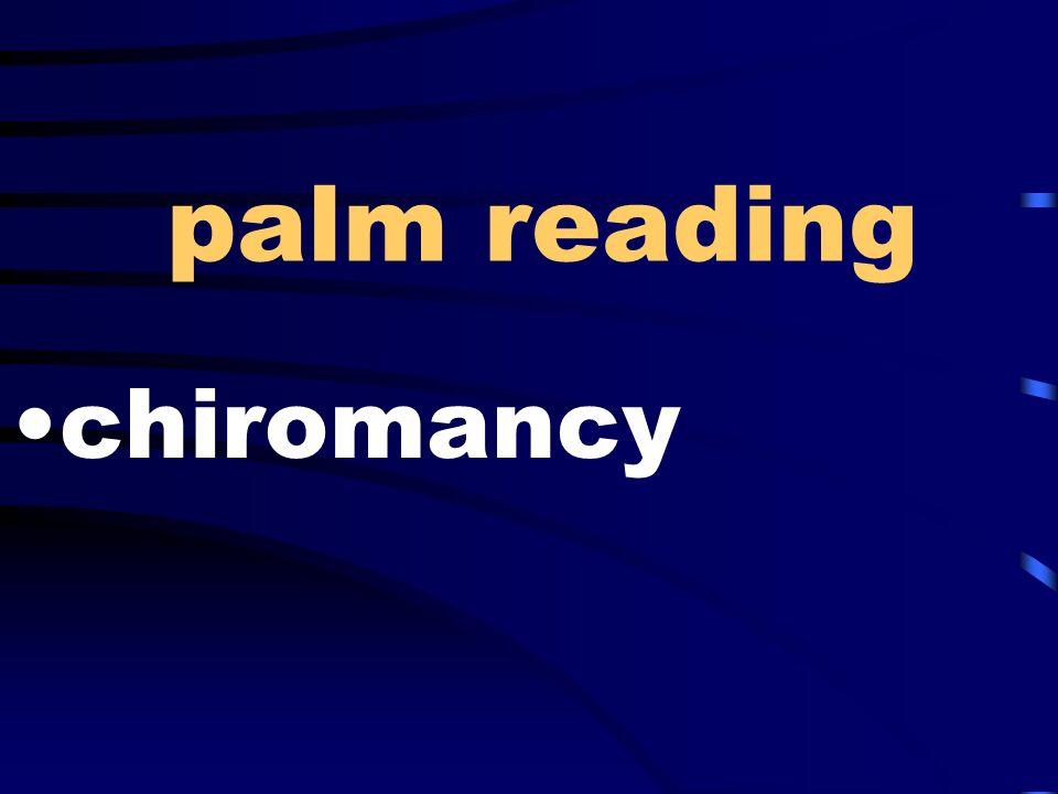 palm reading chiromancy