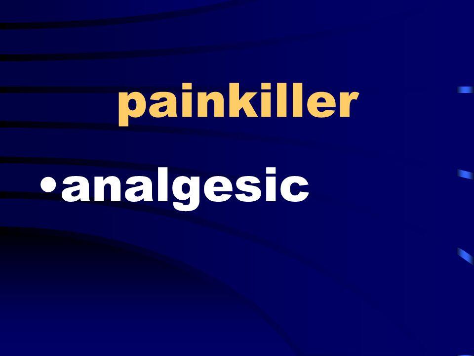 painkiller analgesic