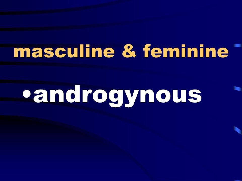 masculine & feminine androgynous