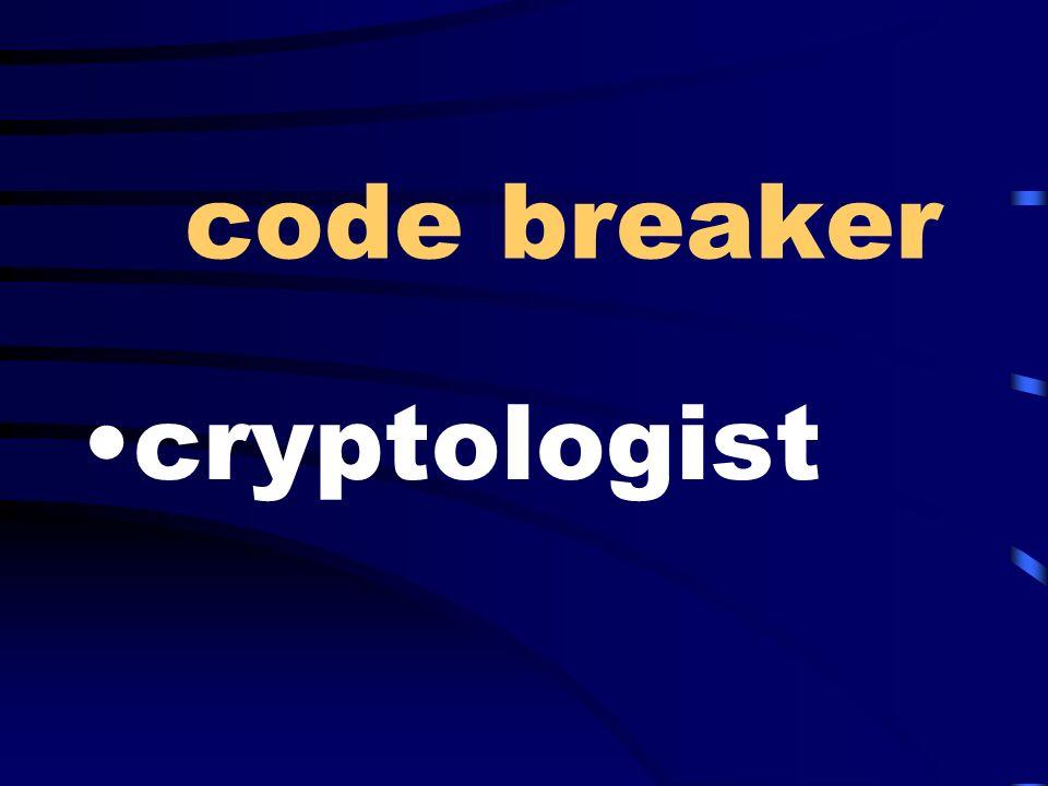 code breaker cryptologist