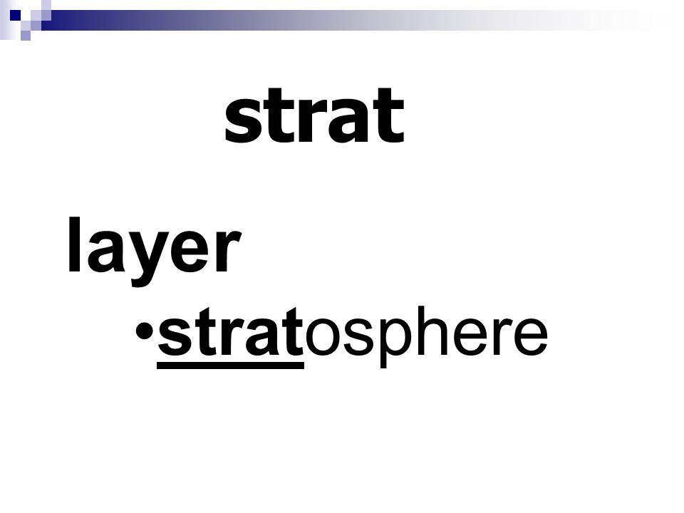 strat layer stratosphere