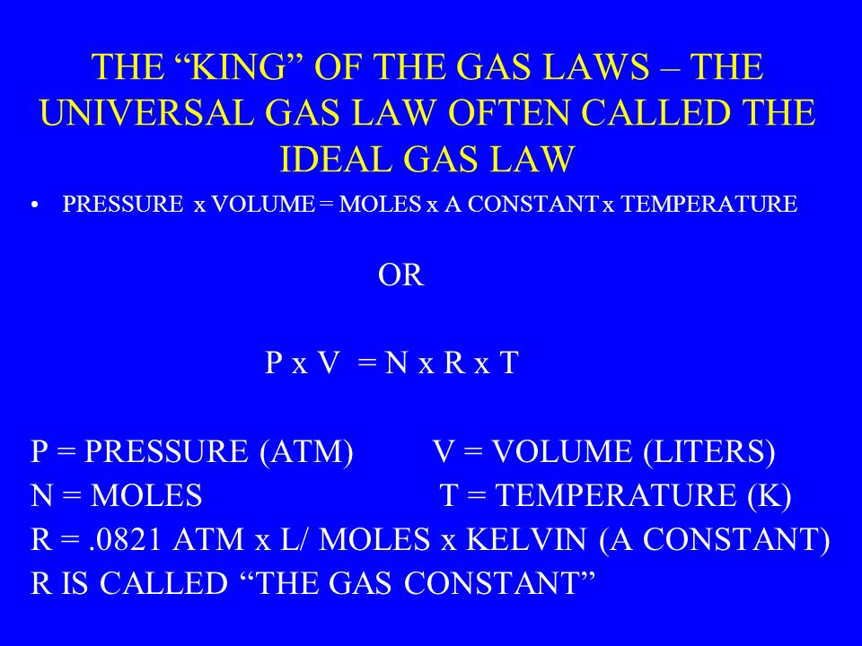 DALTONS LAWS (CONTD) DALTONS LAW ALSO TELLS US THAT THE PARTIAL PRESSURE OF EACH GAS IS RELATED TO THE NUMBER OF MOLES OF THAT GAS PRESENT OUT OF THE