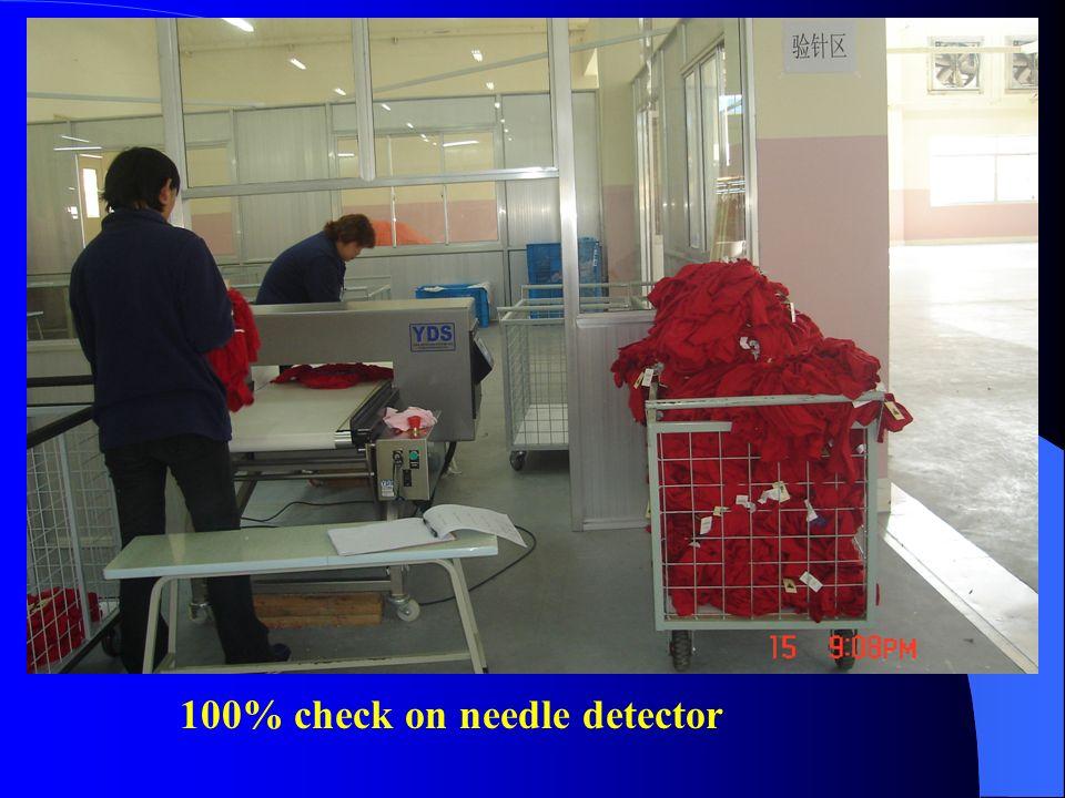 100% check on needle detector