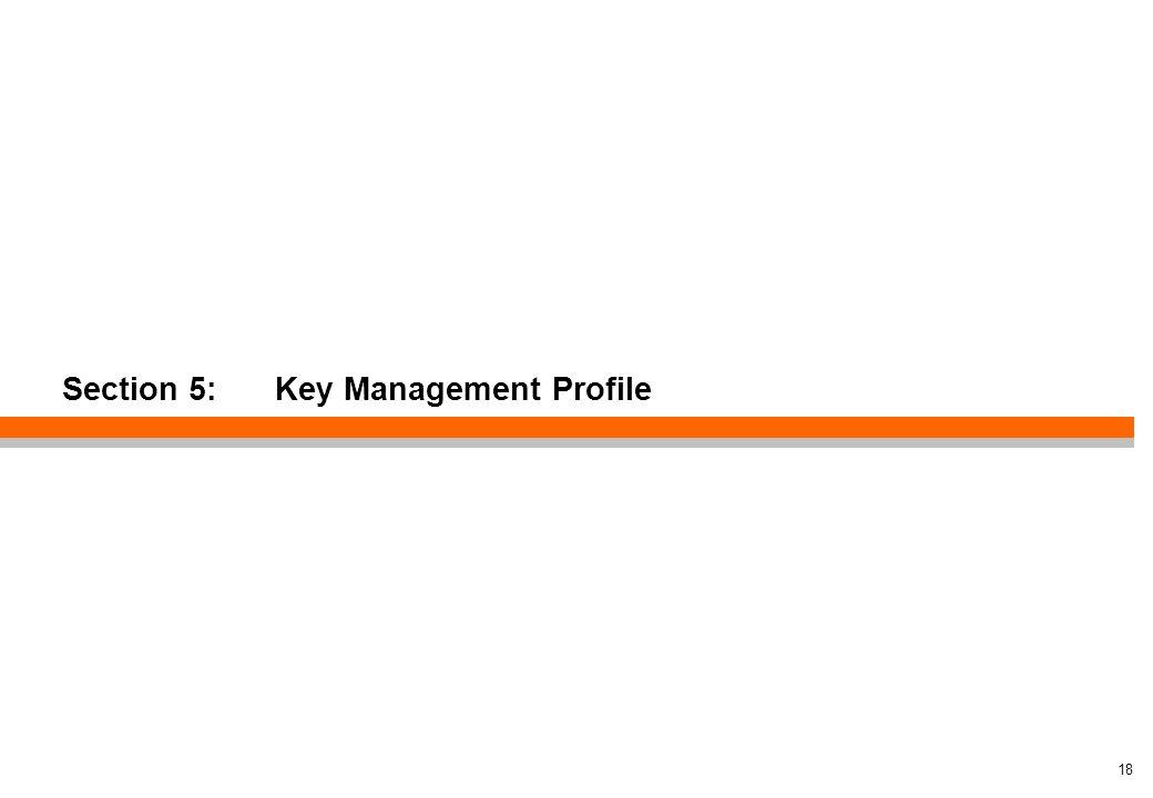 Section 5: Key Management Profile 18