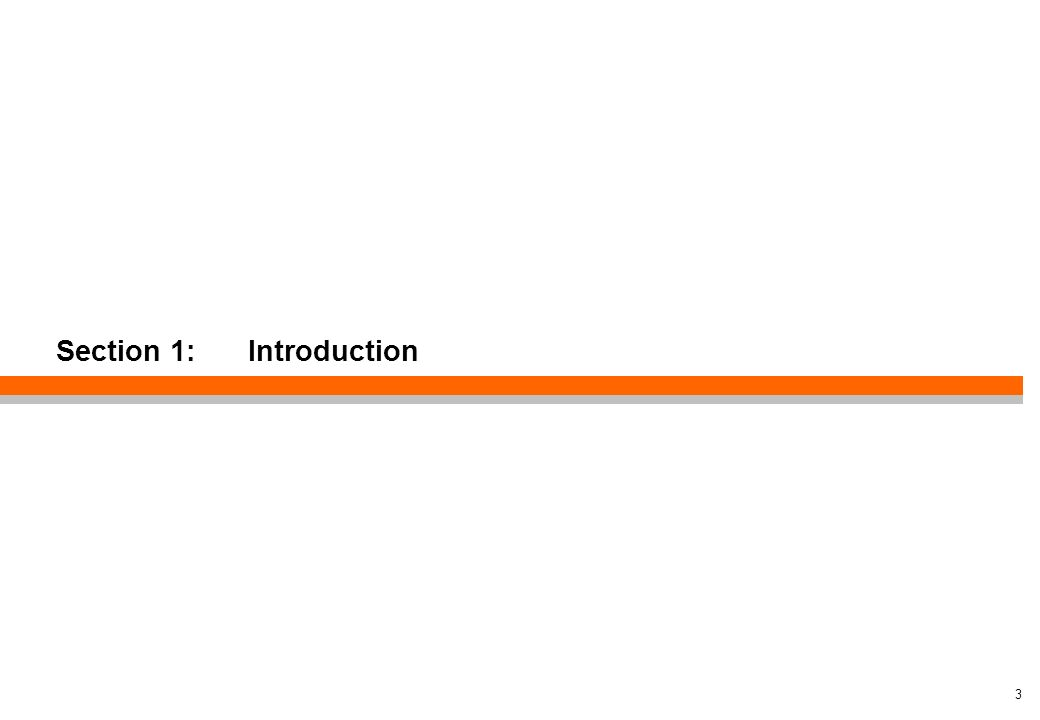 Section 1: Introduction 3