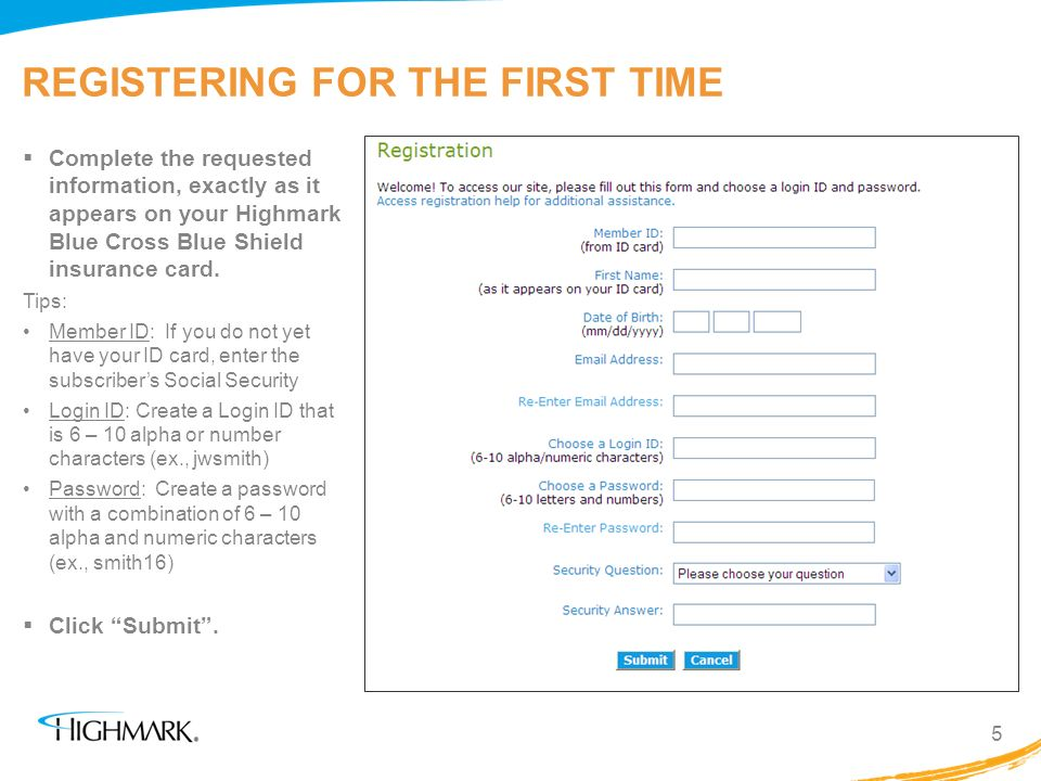 ESTABLISHING A PIN 6 The next page request information to confirm your identity.