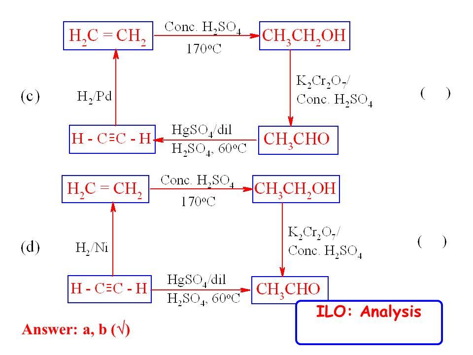 Answer: a, b ( ) ILO: Analysis