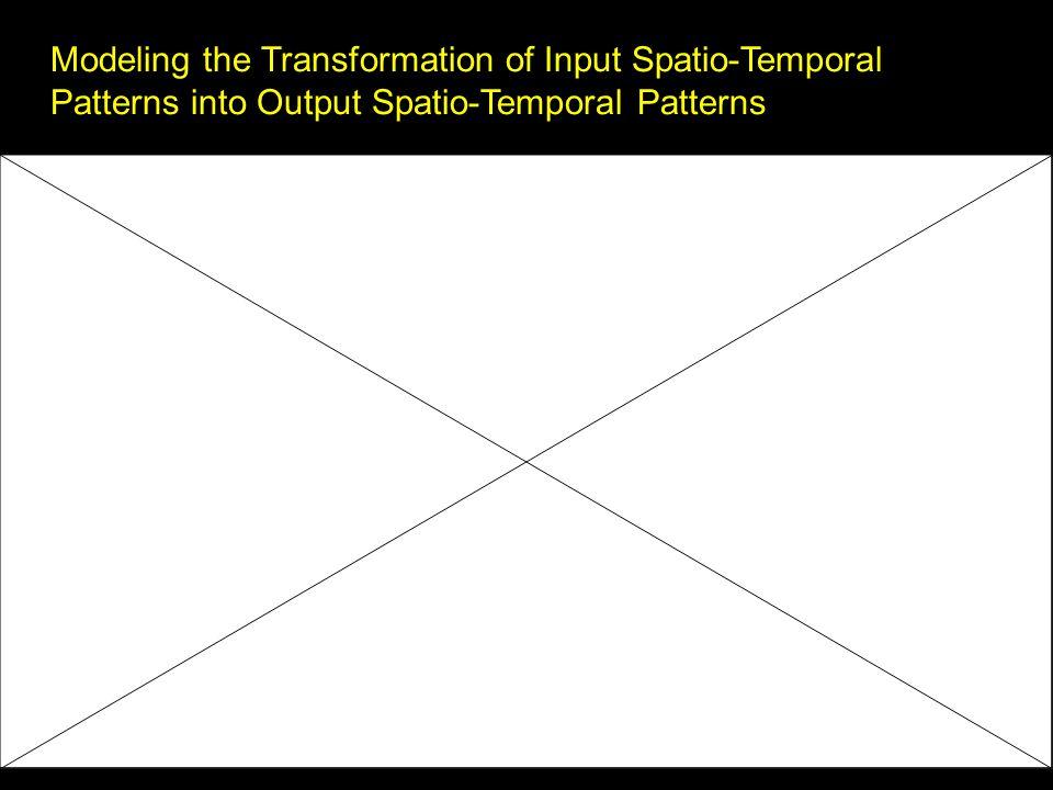 Modeling the Transformation of Input Spatio-Temporal Patterns into Output Spatio-Temporal Patterns r(x, y, t) = G[k(x, y, ), s(x, y, t)]