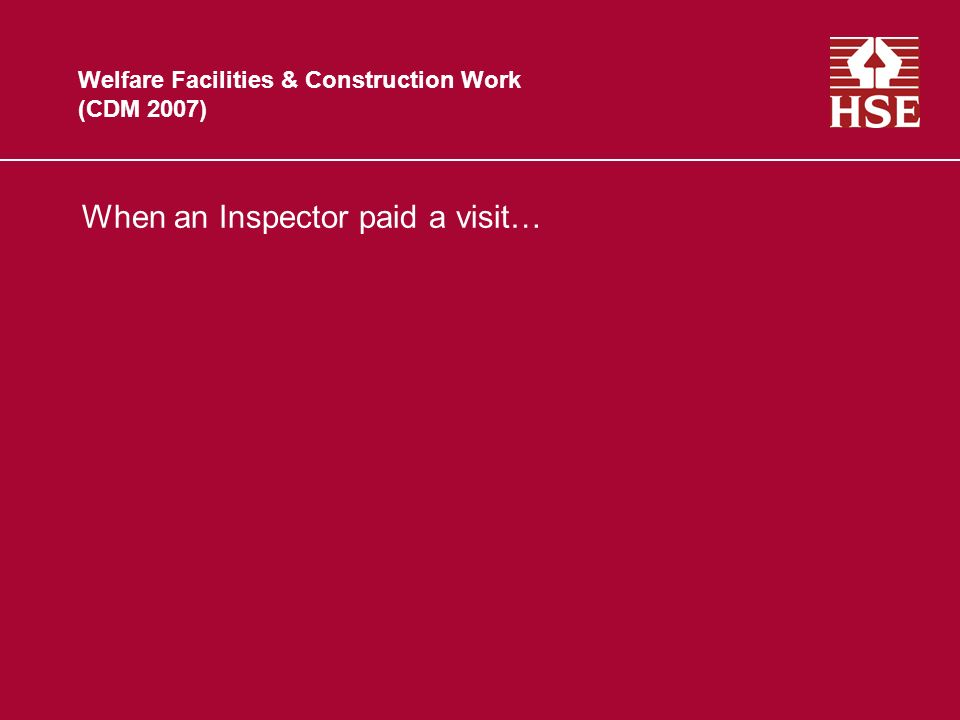 Latest Guidance from HSE Construction Information Sheet No. 59 Whats new?