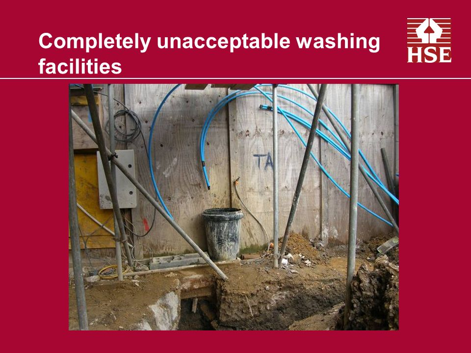 Completely unacceptable washing facilities