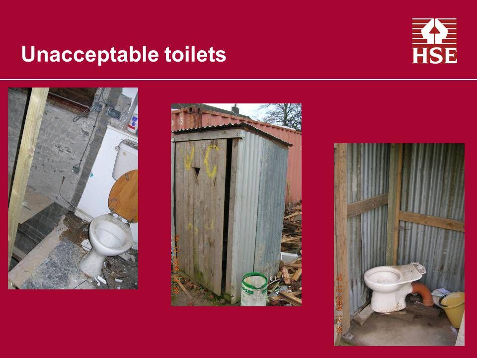 Unacceptable toilets