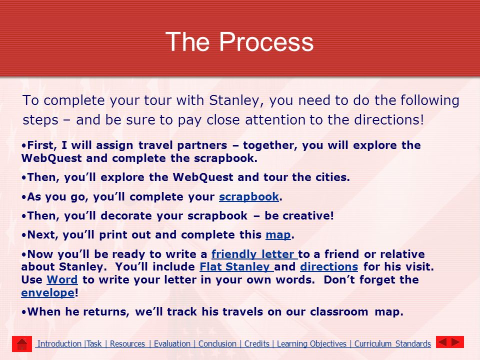 The Process To complete your tour with Stanley, you need to do the following steps – and be sure to pay close attention to the directions! First, I wi