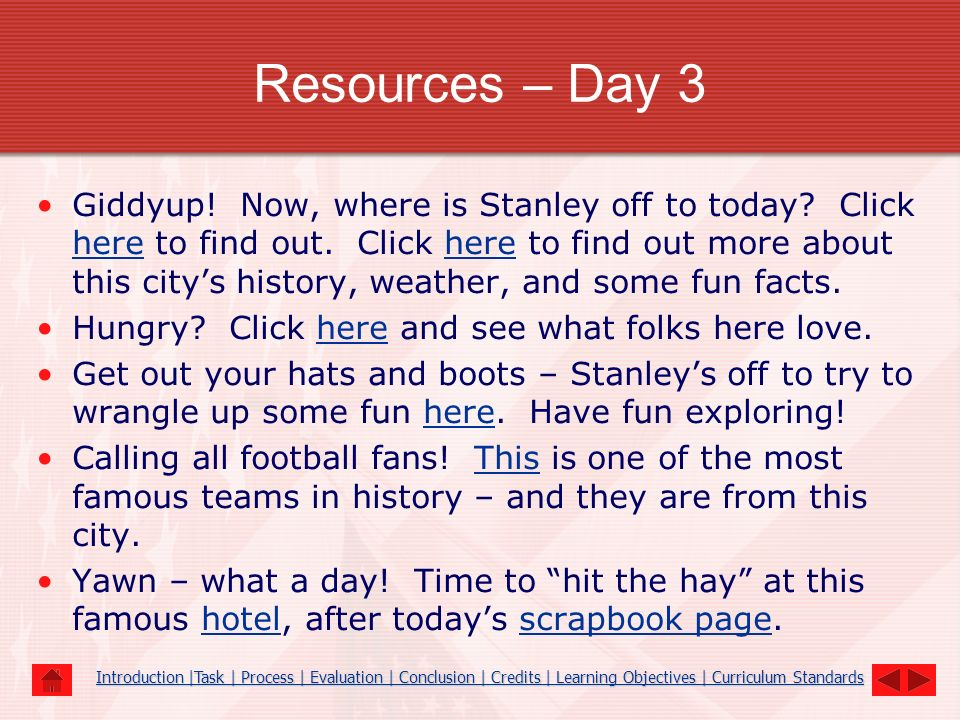 Resources – Day 4 Hold on to your hats gang, its windy here.