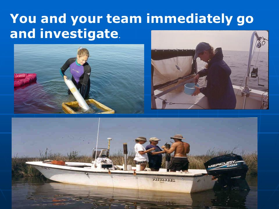 You and your team immediately go and investigate.