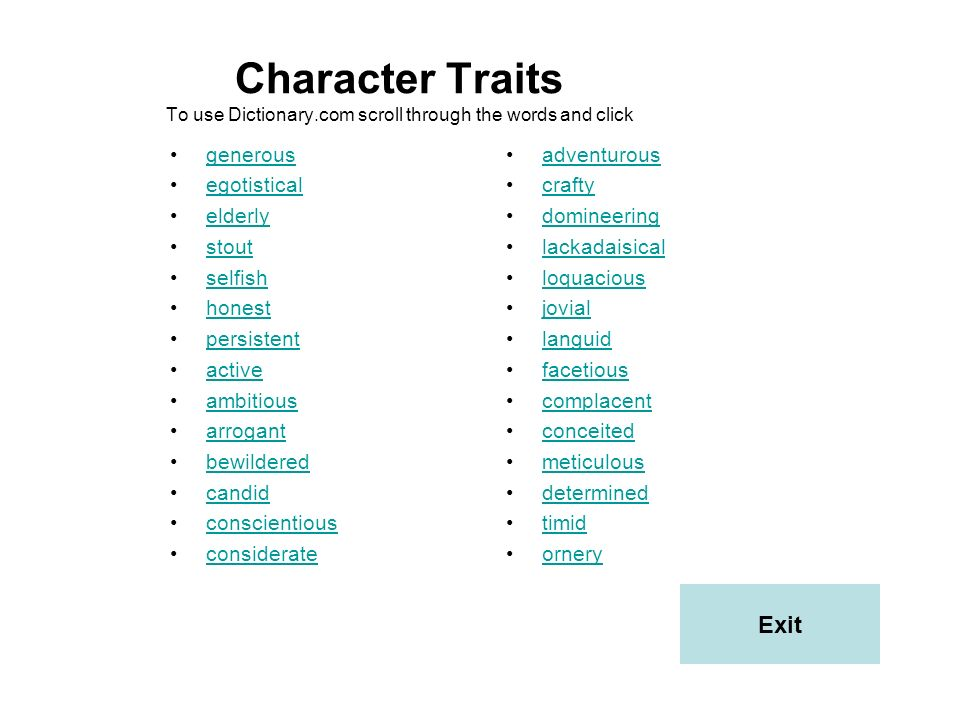Students, you have meet the Kansas reading indicator 2.1.1., identifying and describing different types of characters, and you analyzed their development with your PowerPoint Presentation.