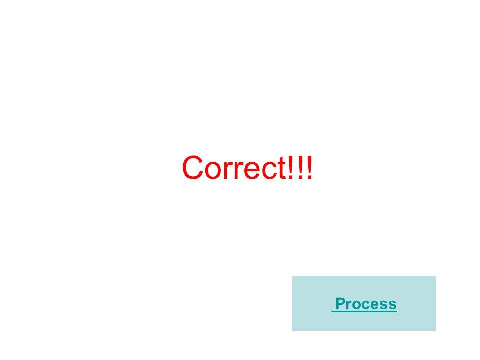Correct!!! Process