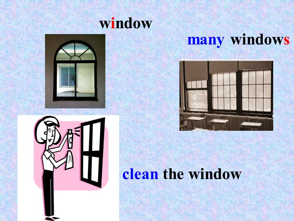 many windows clean the window window