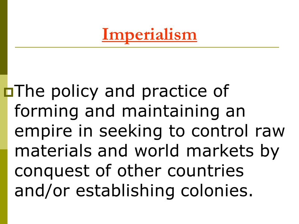 American Imperialism Many 20 th century American foreign policy issues have their origins in Americas emergence as a world power at the end of the 19 th century.