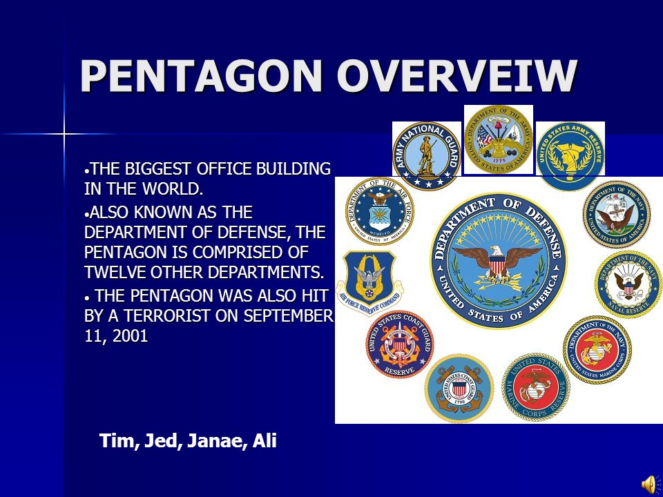 PENTAGON OVERVEIW THE BIGGEST OFFICE BUILDING IN THE WORLD.