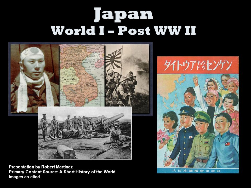 Japan joined World War I on the side of the Allies.