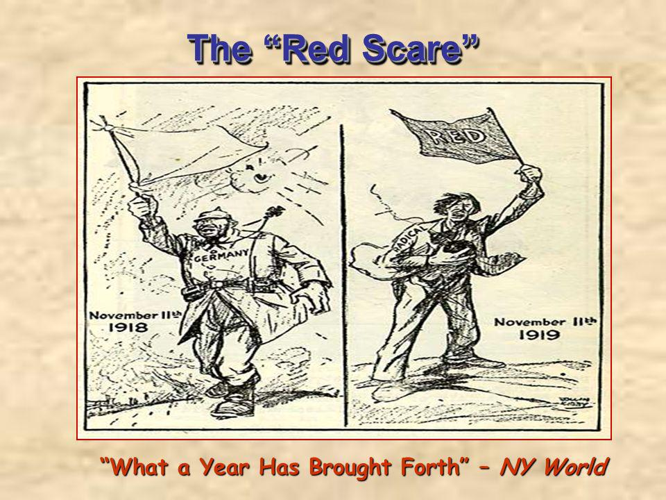 The Red Scare What a Year Has Brought Forth – NY World