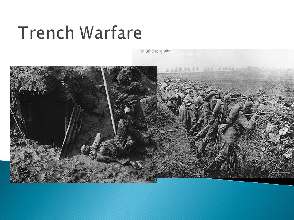 System of trenches dug along a 160-mile line in eastern France Soldiers fought from and lived in the trenches Bloody, muddy and unsanitary Consisted o