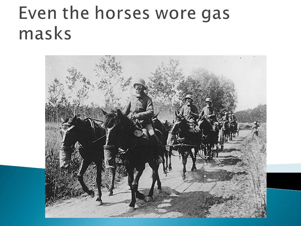 The Machine Gunners w/ gas masks