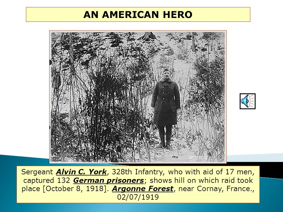 Major Charles Whittlesey-commander of the Lost Battalion-held off the Germans in the Argonne Forest for several days until help arrived