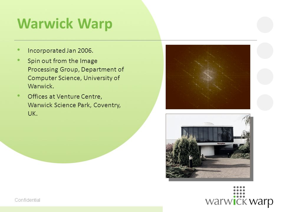 Confidential Warwick Warp Incorporated Jan 2006.