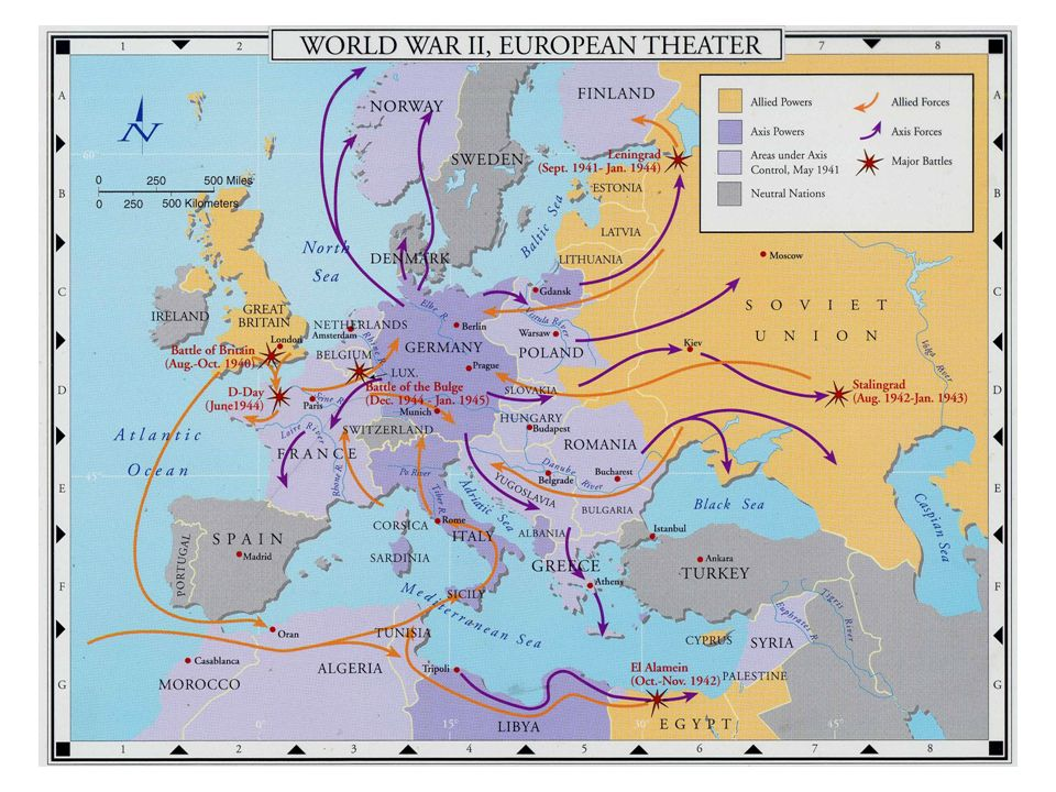 45 Allied Counterattacks in Europe Soviet North Africa Italy Normandy Battle of the Bulge
