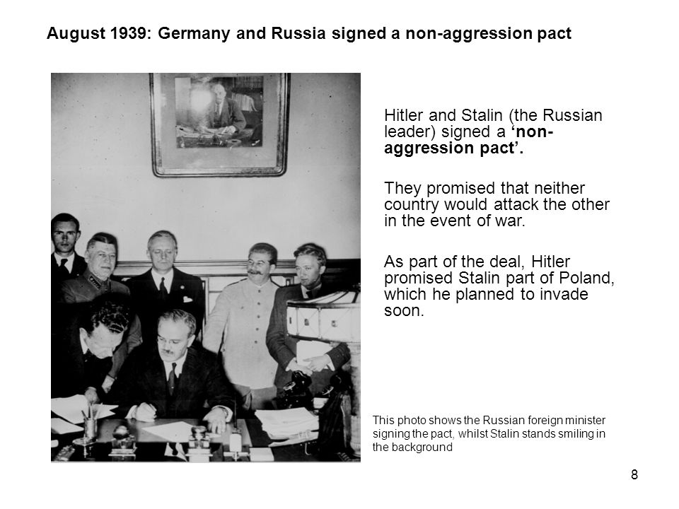 7 March 1939: Germany invaded Czechoslovakia Hitler had ordered the occupation of a part of Czechoslovakia known as the Sudetenland (in October 1938).