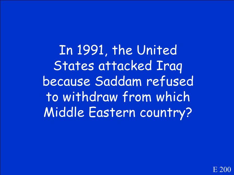 Who is Muammar Gaddafi? E 100